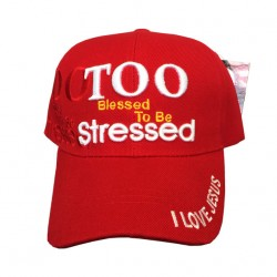 Too Blessed To Be Stressed Adjustable Baseball Cap