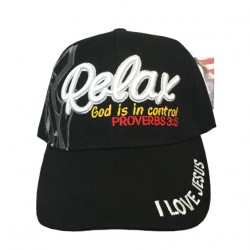 Relax God Is In Control Proverbs 3:5 Adjustable Baseball Cap