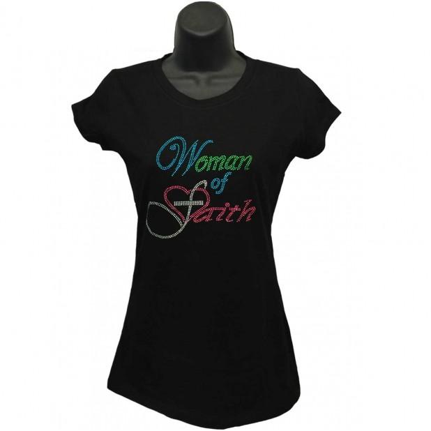 Women of Faith - Rhinestone Ladies T-Shirt