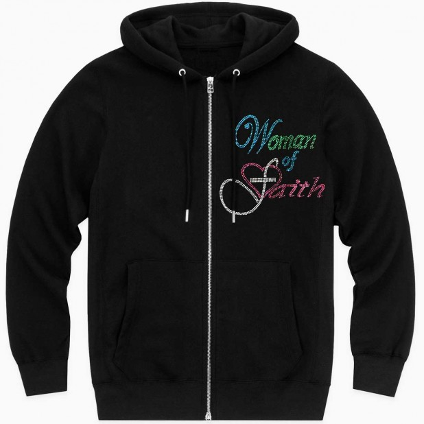 Women of Faith - Multi-Color Rhinestones Hoodie