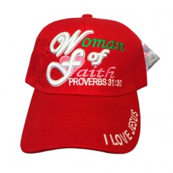 Woman of Faith Proverbs 31:30 Adjustable Baseball Cap